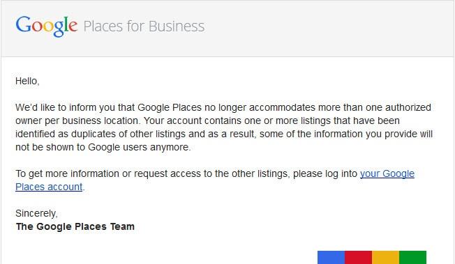 Google Places Alert